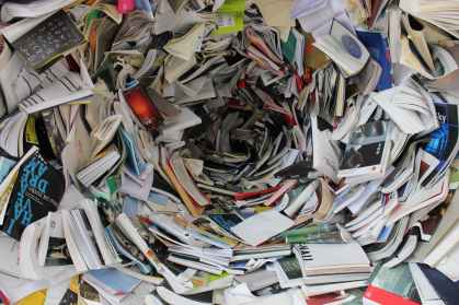 pile of covered books